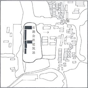 石港公社建筑站方位圖