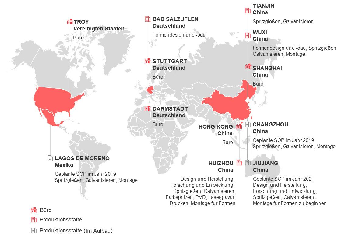 Globale Standorte