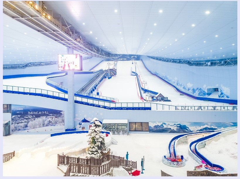 Build all-weather specialized indoor ski resorts with innovative technologies