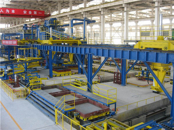Turntables type vacuum process molding Line