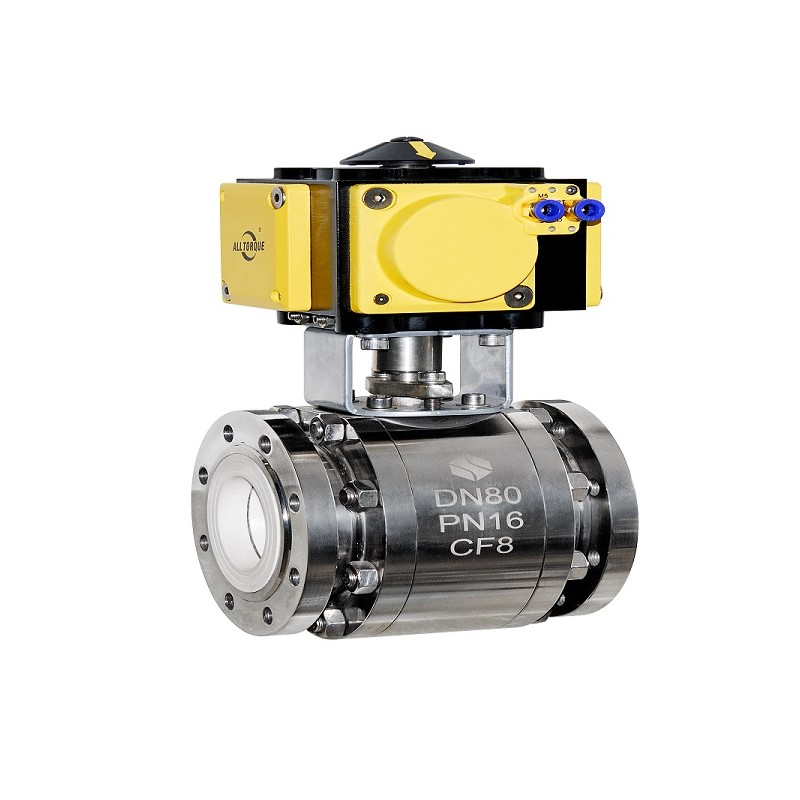 Ceramic ball valve for lithium battery