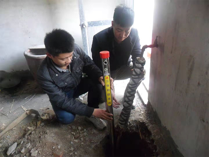 三華利防凍栓在農村農戶家中安裝現場