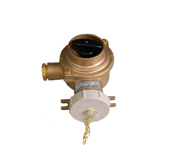 CZKH202-3  Marine brass socket with switch