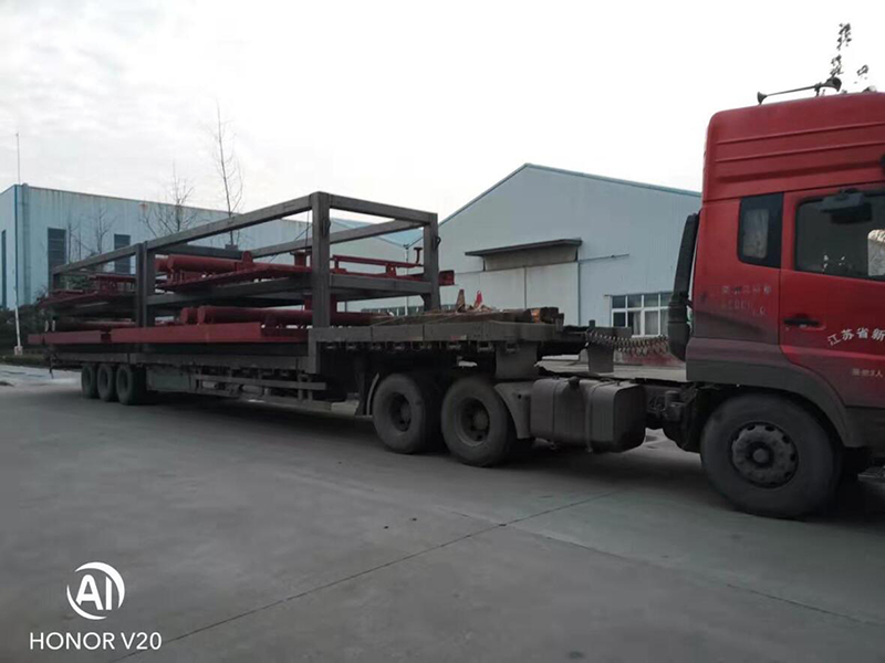 Shipment of waste heat boiler parts of power plant