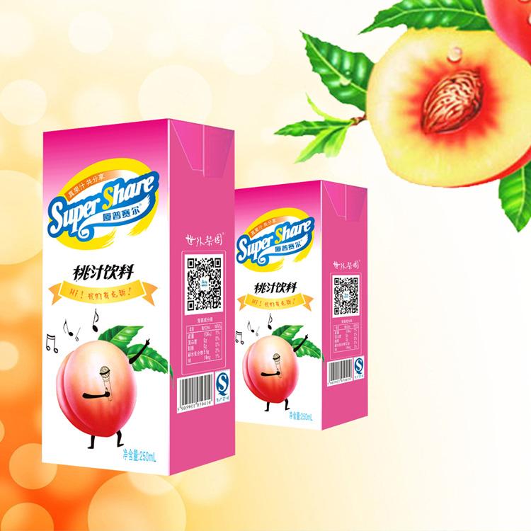 250mL紙盒桃汁飲料