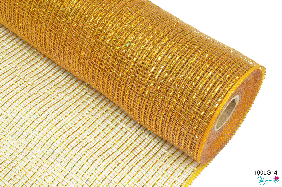 100 Regular Metallic Mesh 100LG14 Laser Gold Metallic In Old Gold  PP
