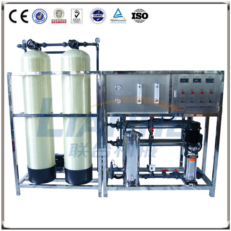 1T/h一级反渗透水处理(玻璃钢双柱,自动阀)