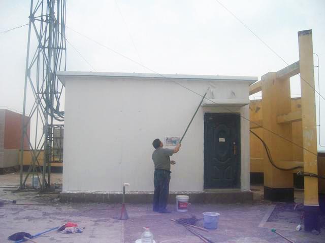 中国电信陕西省分公司基站板房隔热施工
