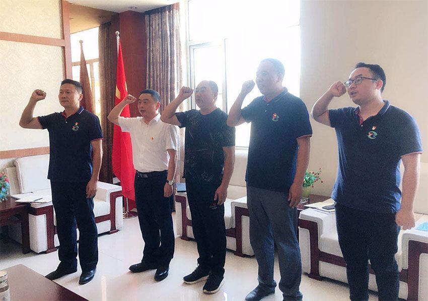 黨建 | 奶茶app下載黨委委員劉鵬帶隊到鵬程新材料黨支部調研