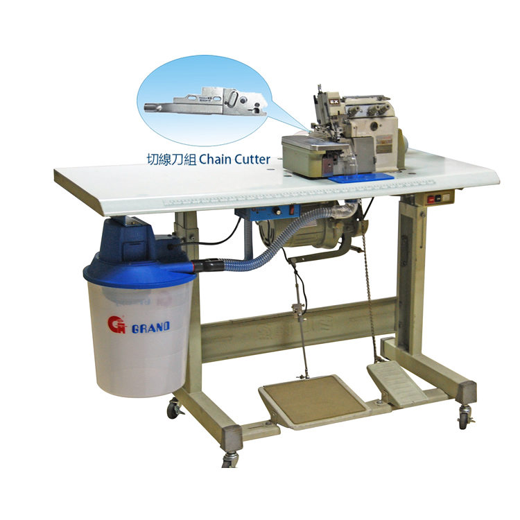 2 Ways Electric Suction Chain Cutter Device With over-lock Machine