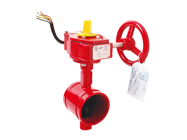 300PSI Grooved Butterfly Valve with Signal Gearbox Tamper Switch