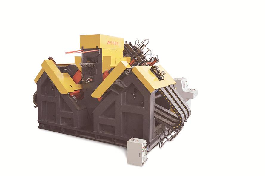 山东青岛高速角钢钻孔加工设备选择济南光先JNC2535G3型高速数控角钢钻孔生产线