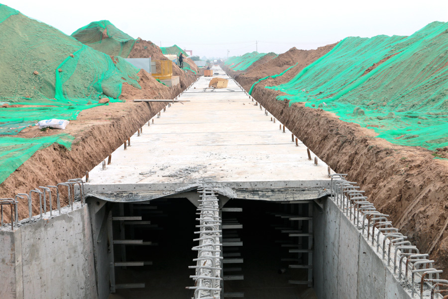 秦汉新城市政地下综合管廊工程