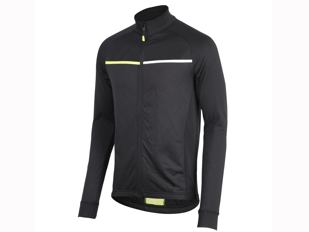 Men's knitted bicycle long sleeve zipper winter jacket.