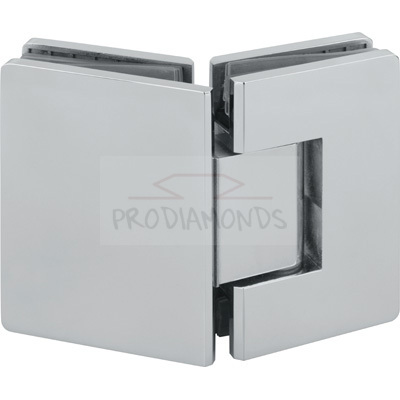 Square Round Corner Economy Shower Hinge 135 Degree Glass to Glass