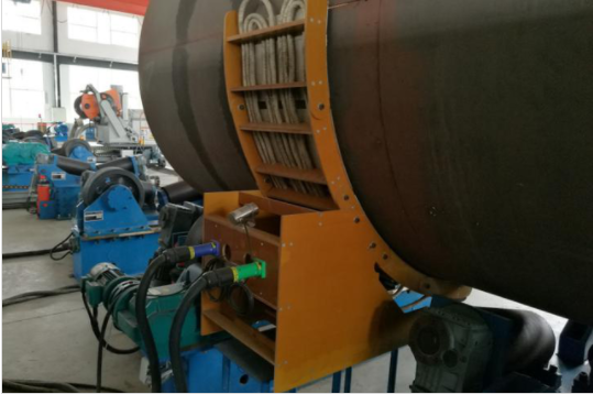 Changeable Radius Mid-Frequency Induction Preheating System Main character