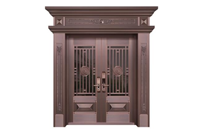 WF-19068 玻璃铜艺门