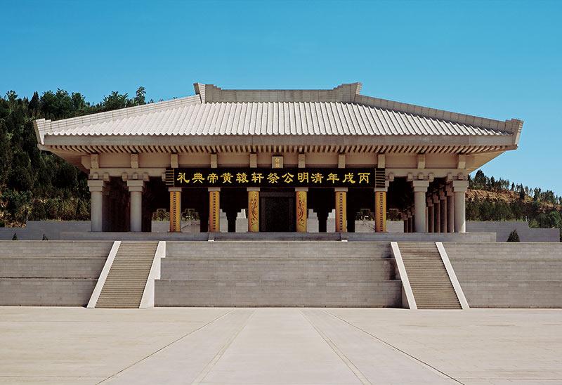 黄帝陵二期工程祭祀大院(殿)工程