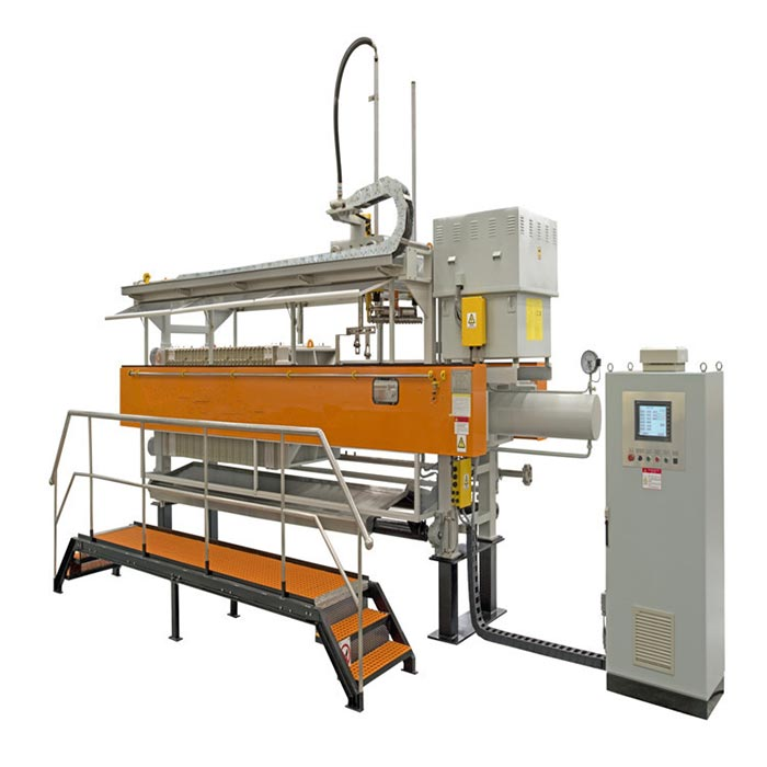 1250mmx1250mm fully automatic filter press with bombay doors/drip tray and cloth washing system