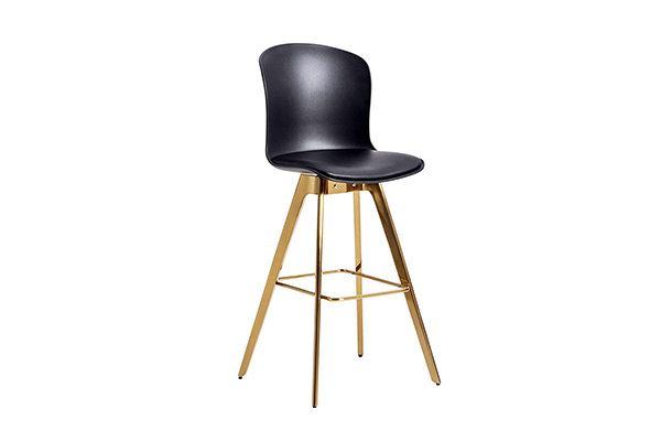Tulip PP seat tapered brass bar chair stool S-228 g