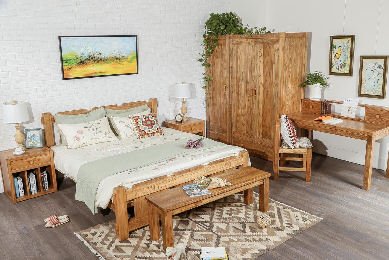 老榆木榫卯---卧房