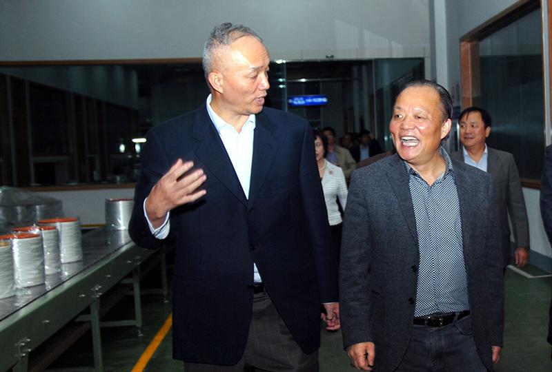 中共中央政治局委员、北京市委书记蔡奇,曾于2010年11月视察企业。