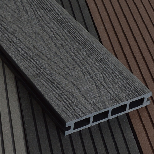 WPC Embossing Decking W150×T25mm Dark Gray