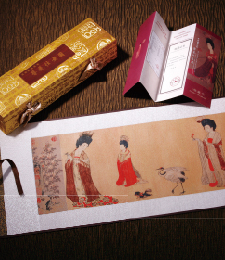 14-4-08簪花仕女图(織錦畫)