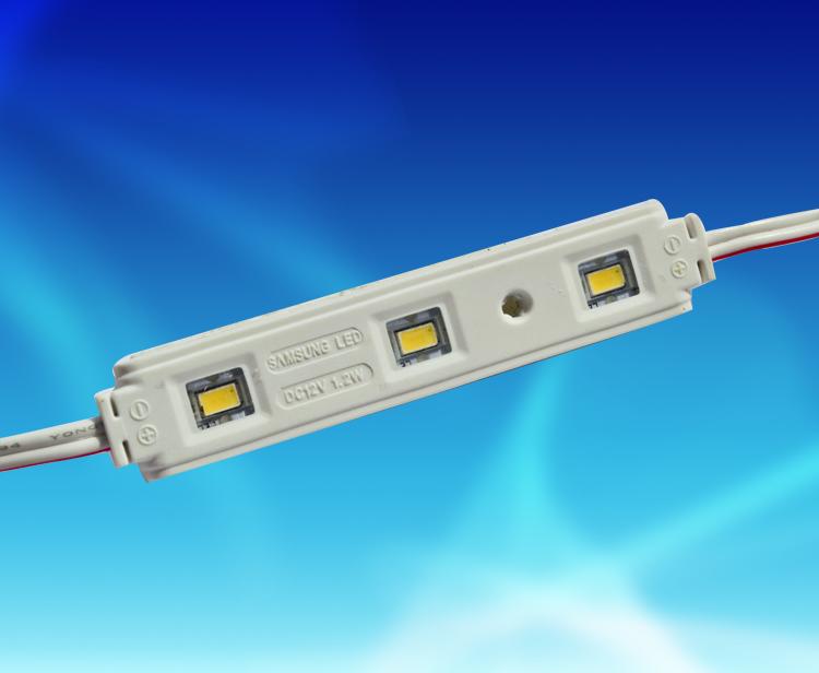 MAW143D,7815三燈5630鋁基板注塑帶透鏡防水模組DC12V