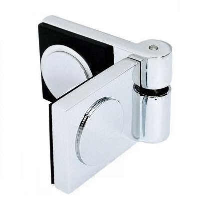 "Shower door fitting ""Cube"" flush glass-glass in square and lifting-lowering technology"
