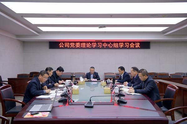 公司召開黨委理論學習中心組學習會議