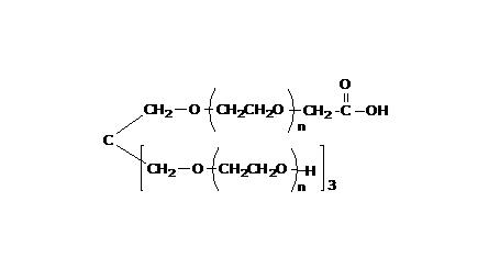 4arm PEG, 3arm-Hydroxyl, 1arm-Carboxyl, MW 3000
