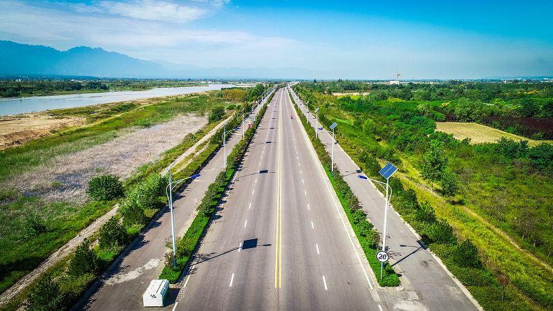 渭河河堤路楊凌段