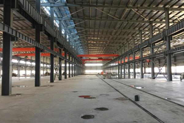 宝厦绿色集成建筑年产7.5万吨的钢结构加工生产线