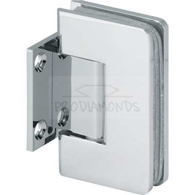 Square Round Corner Economy Shower Hinge Wall Mount Short Back Plate glass door Hinge