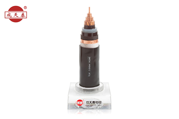Copper core, XLPE insulated, PE sheathed power cable