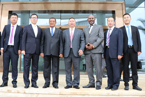 Ethiopia President Mulatu's visit to San Sheng Pharmaceutical Co., Ltd.