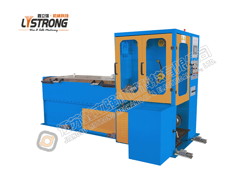 Saw wire drawing machine with 4 capstans