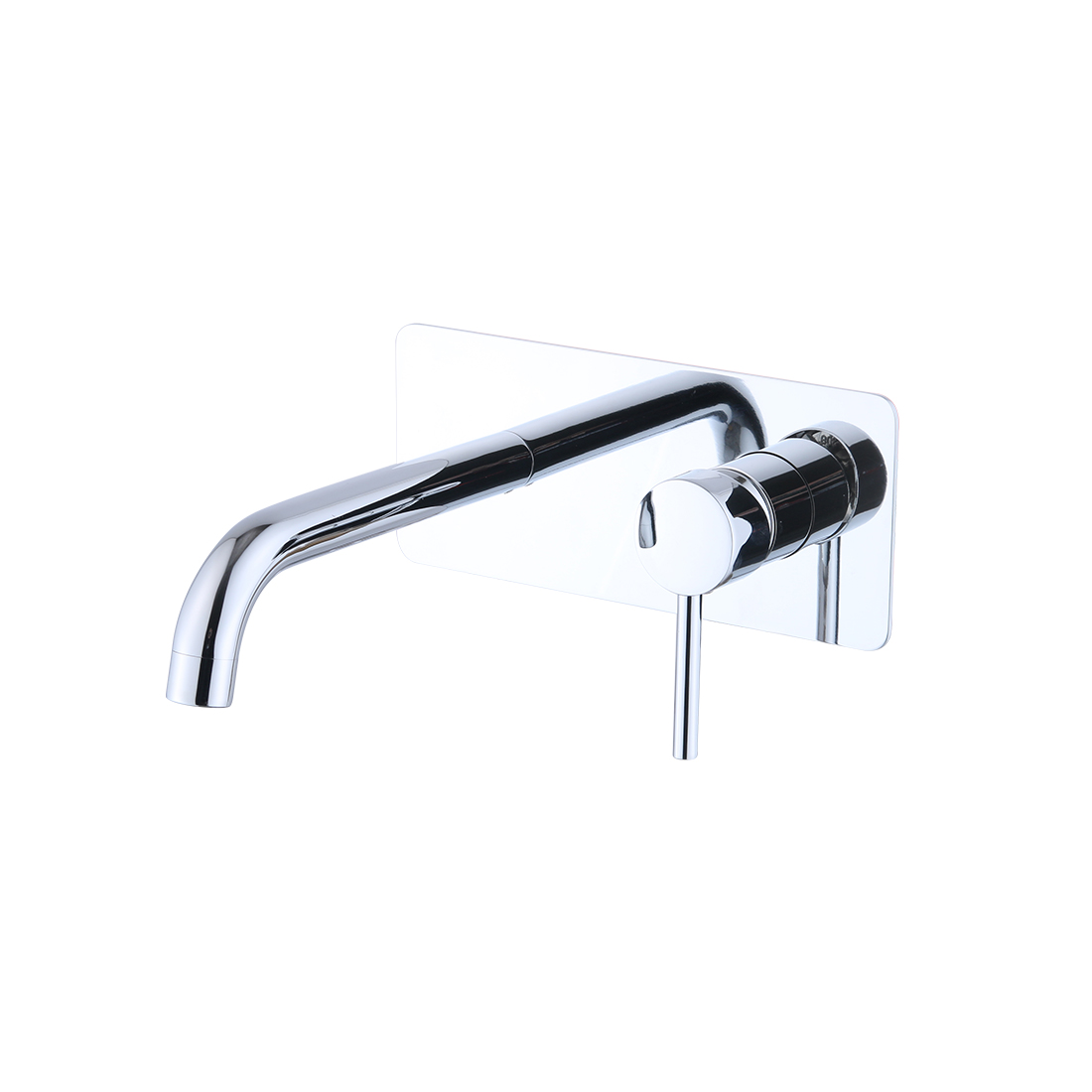 FLG Chrome Bathroom Faucet Wall Mounted Faucets Single Hole Wall Mounted Brass Basin Mixer Taps, Basin Sink Mixer Tap Faucet Hot and Cold Spout Mixer Bathtub Faucet