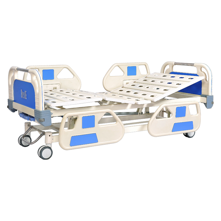 Movable full-fowler manual bed with ABS head and foot board