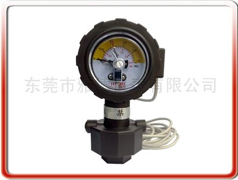 PP全塑隔膜式電接點壓力表