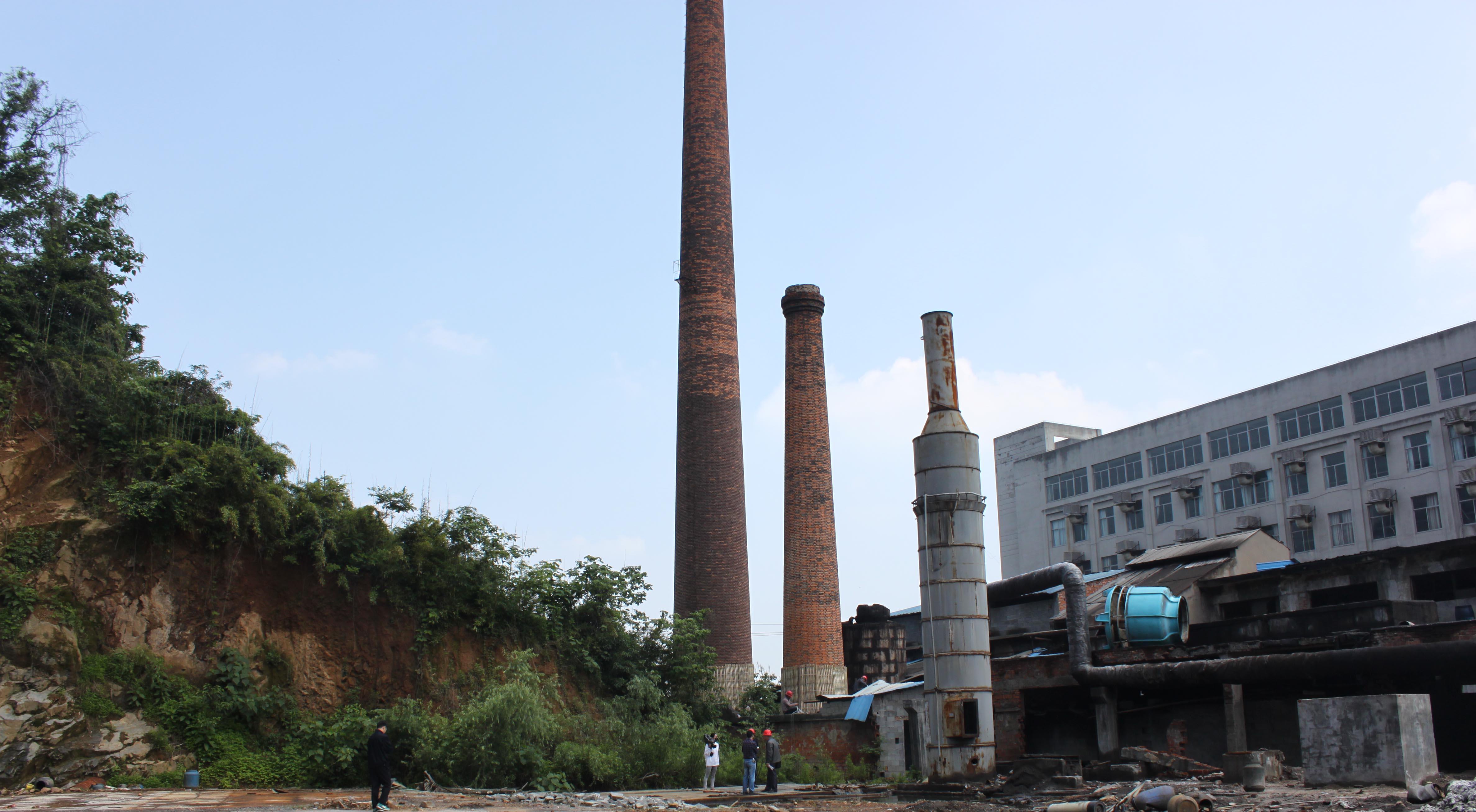 兰亭镇绍兴县育达纺染有限公司厂区内废弃烟囱拆除工程