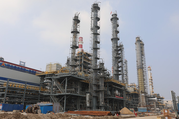 Construction progress report of the fifth-phase catalytic unit