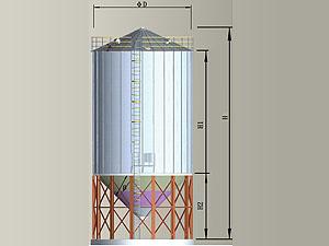 45度TCZ寬板系列鋼板倉