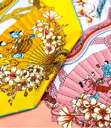 2-1中方巾-同花異色花好月圓