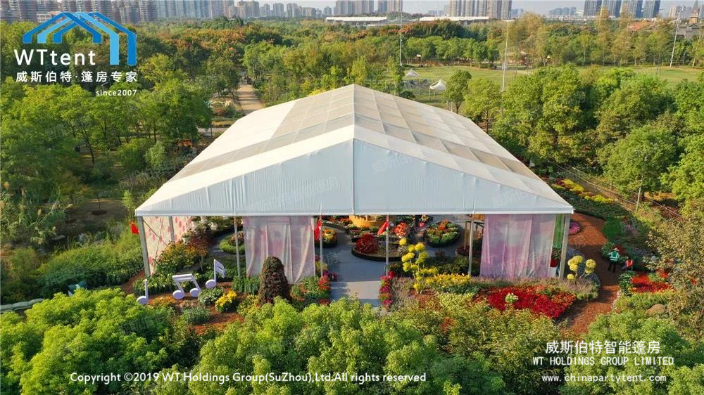 Smart tent coloring flower show