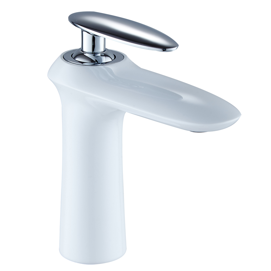 FLG White and Chrome Bathroom Bathroom Faucet