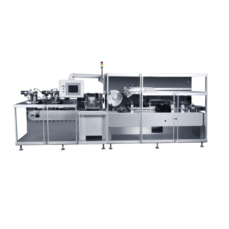 Fully automatic glue seal cartoning tablet bottle packaging injectable ampoule carton box packing machine