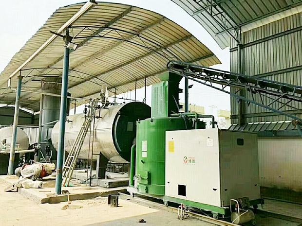 480萬大卡-木片燃燒機-配套燃氣鍋爐用于蒸汽磚生產-云南保山