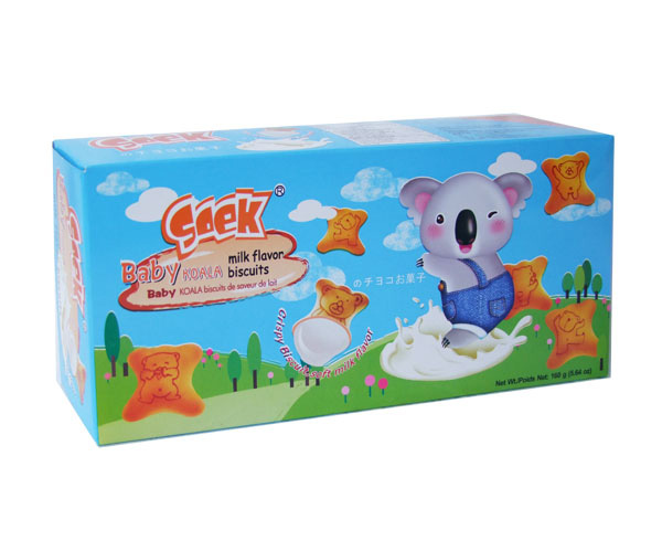 Baby Koala Cream Filled Biscuits Milk Filling 160gX12boxes 38.5X26X24.5cm